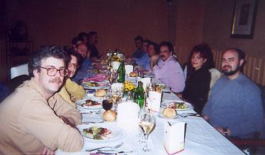 Aquí ya estamos en la cena, un lugar en donde se suponía que debíamos comportarnos como coordinadores que somos, aunque a algunos los ojos les delaten...