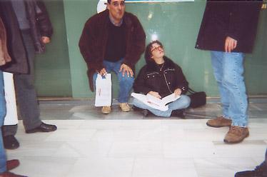 Después de comer algunos seguian cansados como por ejemplo Miguel Ángel Díaz y Elisa Castel