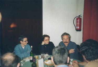 Haciendo la tertulia despues de comer con Olga Alvarez, Elisa Castel y Jaume Vivó