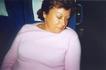 Bueno, y después de tanta fiesta lo mejor es una buena siesta... y si no que se lo pregunten a Rosa Pujol...