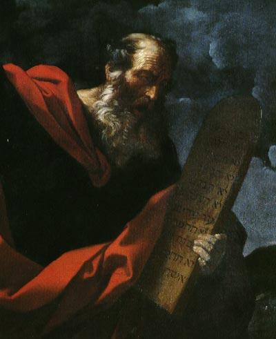 Moisés con las tablas de la Ley (cuadro de Guido Reni aprox. año 1620)