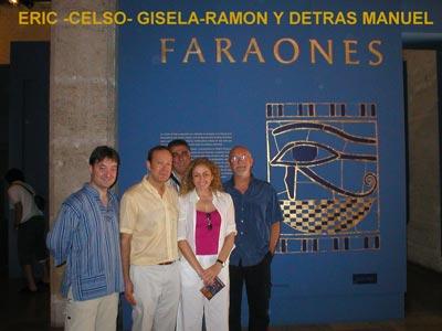 Eric, Celso, Gisela, Ramón y detrás Manuel