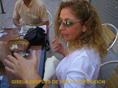 Gisela después de ver la exposición