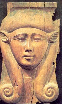 Diosa Hathor con peluca de caracol