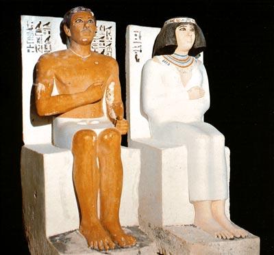 Rahotep y su esposa Nofret (Meidum) – Museo Egipcio de El Cairo