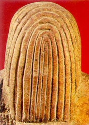 Parte trasera de representacion de peluca en mechones gruesos o rastas