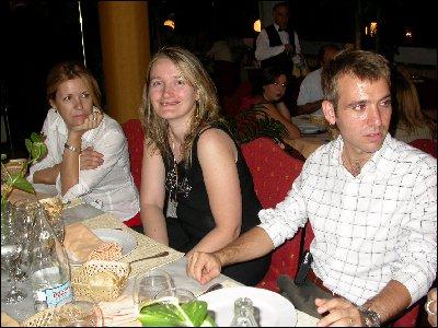 Cristina, Silvia y Gerardo