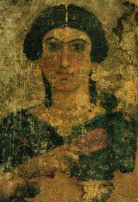La dama del sistro. Retrato de mujer anónima. Época antonina, 130-161 d.C. Museo Egipcio de El Cairo