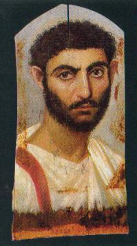 Retrato de un joven. Época antonina, 130-161 d.C. Museo Egipcio de El Cairo