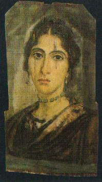 Retrato de una joven. Época antonina, 161-180 d.C. Museo Egipcio de El Cairo