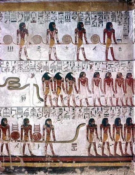 Dioses con Cuerda y las cuatro Razas de la humanidad. Libro de las puertas 4ª División 5ª Hora