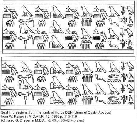 Improntas de cilindro-sellos descubiertas por Kaiser y Dreyer