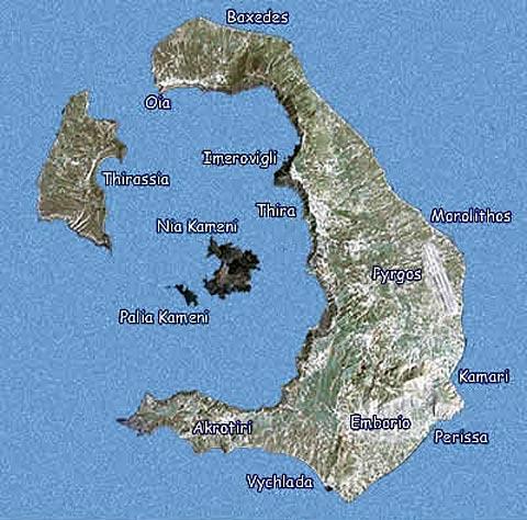 Imagen de Santorini donde está localizado el volcán