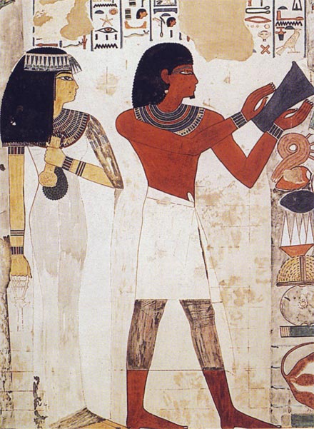 Nakht y su esposa Tawy (TT52). Dinastía XVIII. Foto Susana Alegre García
