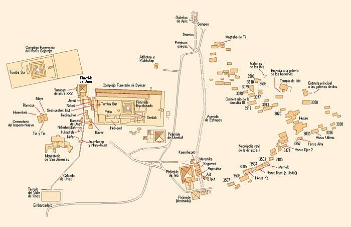 Plano General de Saqqara (C) Jaume Vivó