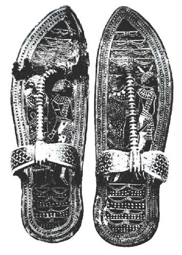 Figura 7. Sandalias de oro de Tutankhamon