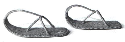 Figura 9. Sandalias de fibra de palma. Museo de Berlín