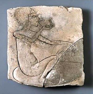 Princesa amarniana desconocida. Procedente del Palacio Norte en Ajetatón. Museo Egipcio de El Cairo