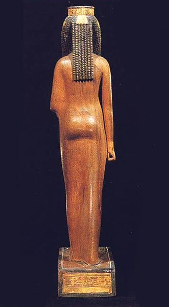 Foto 7. Parte trasera.Foto en G. ANDREU, La statuette d'Ahmès Néfertari, París, 1997, p. 4, 2