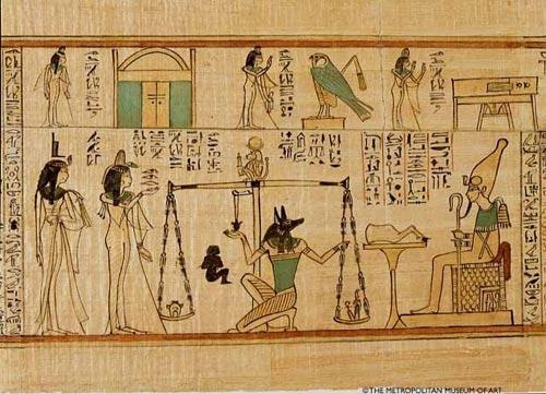 Sección del Libro de los Muertos. Tebas,Dinastía XXI, 1075-945 a.C. (Imagen cortesía de The Metropolitan Museum of Art (New York) www.metmuseum.org