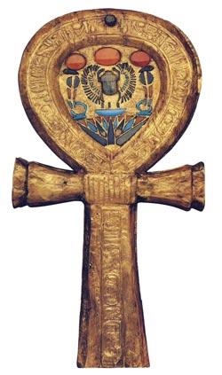 Foto 4. Caja de espejo localizado en la tumba de Tutankhamón. Dinastía XVIII. Museo de El Cairo. Foto en J. MALEK, Egipto, 4000 años de arte, Barcelona, 2007, p. 212