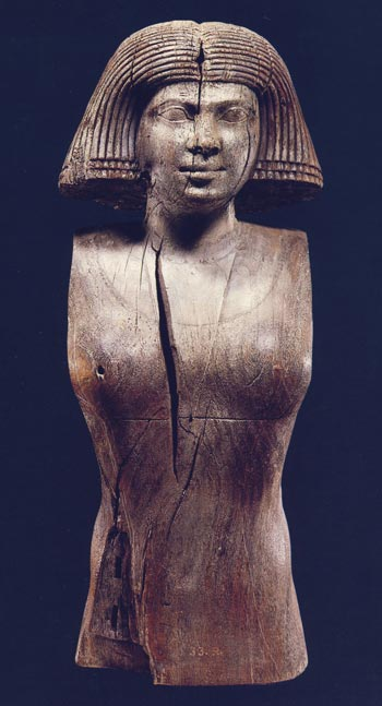 Foto. 5. La esposa de Kaaper. Foto en catalogo de la exposición Nofret, la bella. La dona a l'antic Egipte, Barcelona, 1986, p. 59.