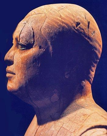 Foto 7. Perfil de la cara de Kaaper. Foto en J. MALEK, Egipto, 4000 años de arte, Barcelona, 2007, p. 69.