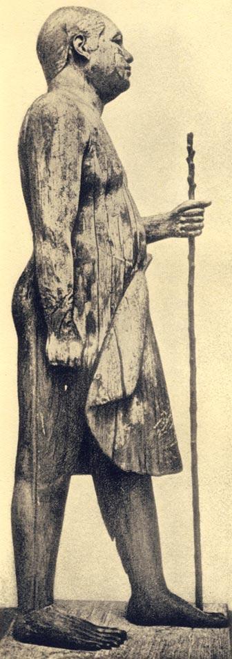 Foto. 9. Detalle del faldellín de Kaaper. Foto en D. RAGAI, L' art pour l'art dan l'Égypte antique, París, 1940. PL.4.