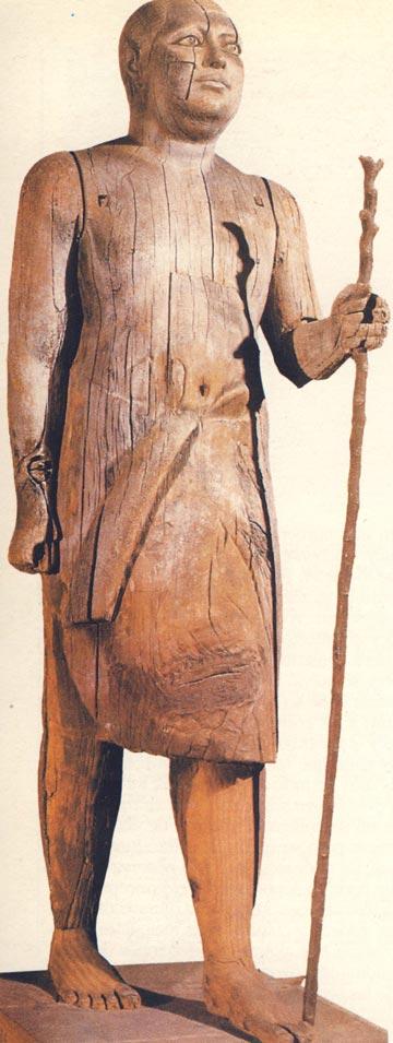 Foto. 10. Kaaper. Vista semiperfilFoto en D. WIL-SON, L' art pharaonique, París, 1999, p. 23.