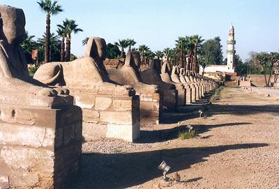 Milenaria Avenida de Esfinges egipcia es sometida a restauración
