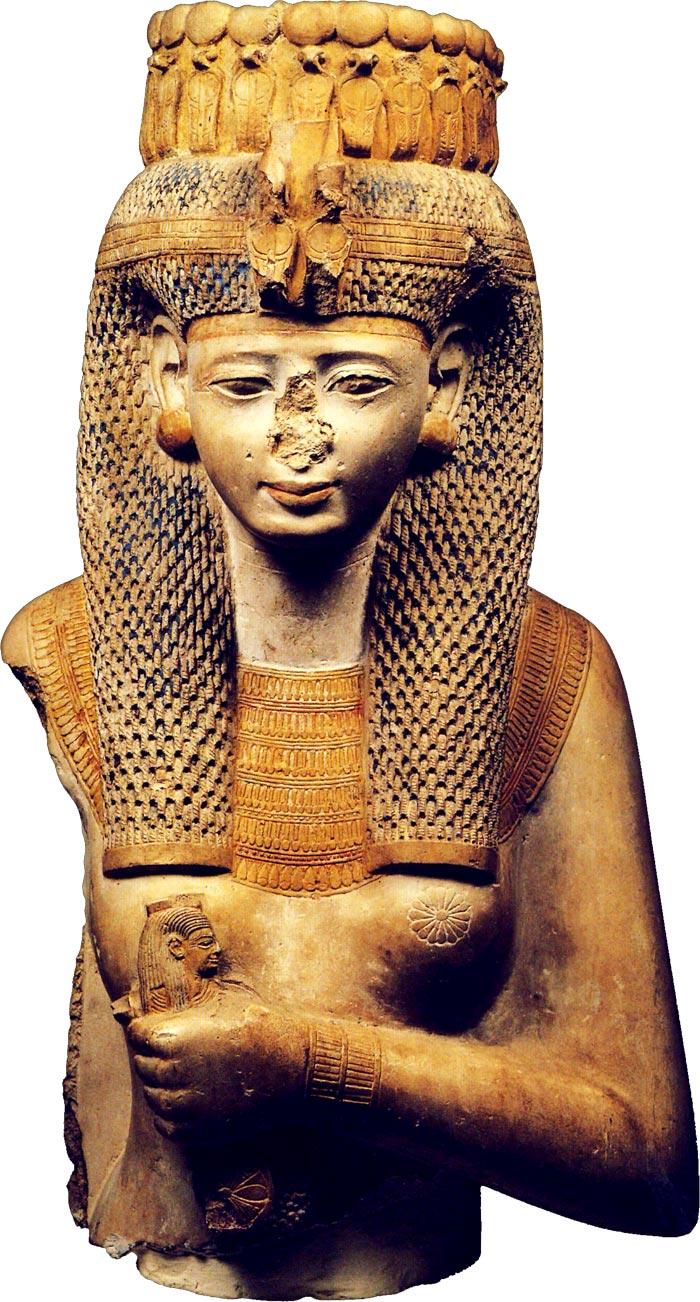 Fig. 1. Vista frontal de la Reina Blanca. Adaptada de J. Malek, Egipto. 4000 años de arte, Barcelona 2007, p. 245.