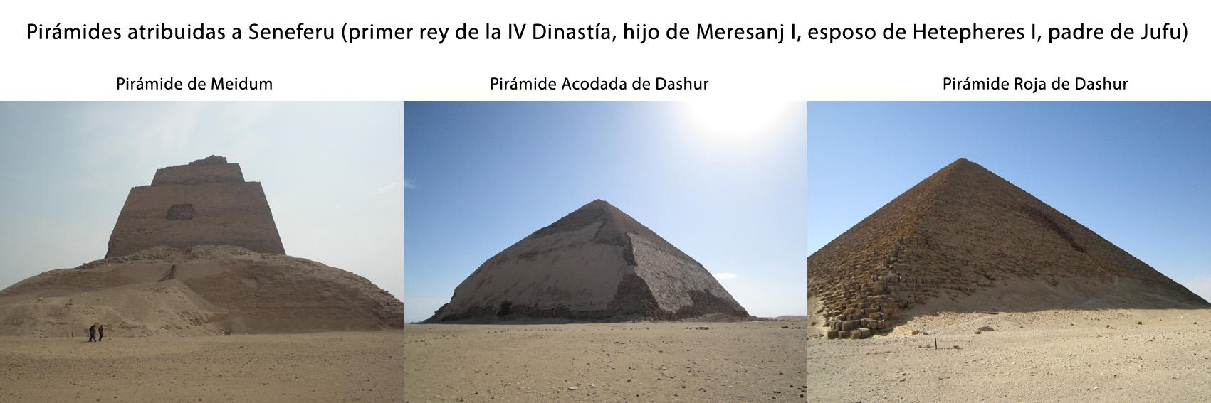 2-Piramides Seneferu Meidum y Dashur
