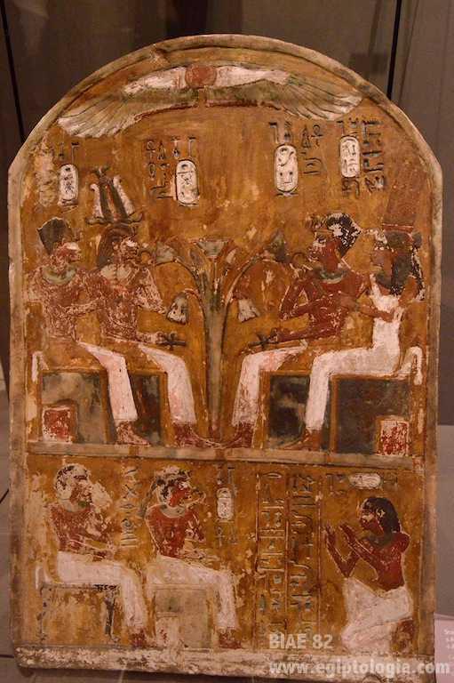 Estela_Amenhotep I y II y Ahmes Nefertary