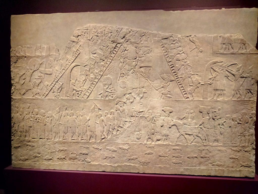 Asirios asaltan una ciudad egipcia