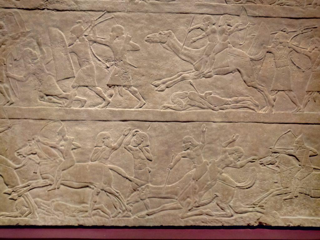 Detalle de los camellos en batalla